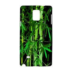 Bamboo Pattern Tree Samsung Galaxy Note 4 Hardshell Case by AnjaniArt