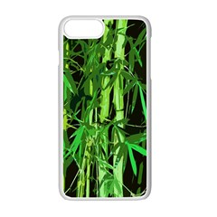 Bamboo Pattern Tree Apple Iphone 7 Plus White Seamless Case