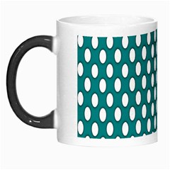 Circular Pattern Blue White Morph Mugs by AnjaniArt