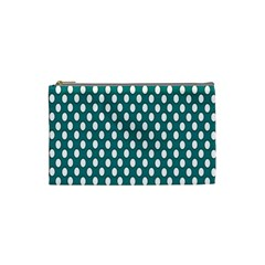 Circular Pattern Blue White Cosmetic Bag (small)  by AnjaniArt