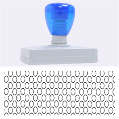 Circular Pattern Blue White Rubber Address Stamps (xl) by AnjaniArt