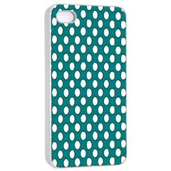 Circular Pattern Blue White Apple Iphone 4/4s Seamless Case (white) by AnjaniArt