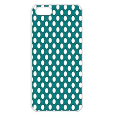 Circular Pattern Blue White Apple Iphone 5 Seamless Case (white) by AnjaniArt