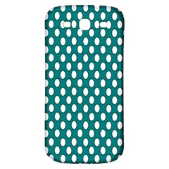 Circular Pattern Blue White Samsung Galaxy S3 S Iii Classic Hardshell Back Case by AnjaniArt