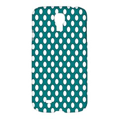 Circular Pattern Blue White Samsung Galaxy S4 I9500/i9505 Hardshell Case by AnjaniArt