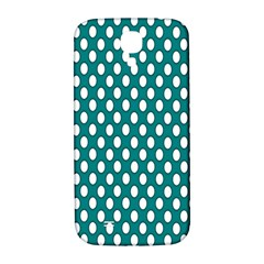 Circular Pattern Blue White Samsung Galaxy S4 I9500/i9505  Hardshell Back Case by AnjaniArt