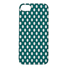 Circular Pattern Blue White Apple Iphone 5s/ Se Hardshell Case by AnjaniArt