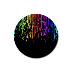 Color Rainbow Rubber Coaster (round)  by AnjaniArt