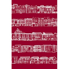 City Building Red 5 5  X 8 5  Notebooks by AnjaniArt