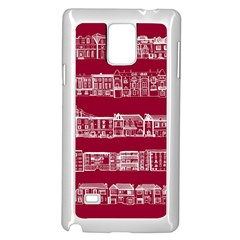 City Building Red Samsung Galaxy Note 4 Case (white) by AnjaniArt