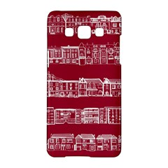 City Building Red Samsung Galaxy A5 Hardshell Case