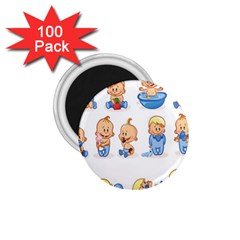Cute Baby Picture Funny 1 75  Magnets (100 Pack)  by AnjaniArt