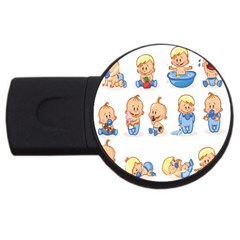 Cute Baby Picture Funny Usb Flash Drive Round (4 Gb)  by AnjaniArt