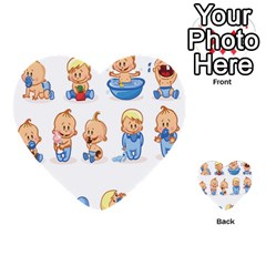 Cute Baby Picture Funny Multi Purpose Cards (heart)