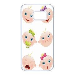 Cute Baby Picture Samsung Galaxy S7 White Seamless Case by AnjaniArt