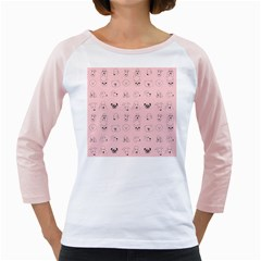 Dog Pink Girly Raglans