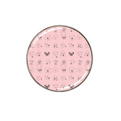 Dog Pink Hat Clip Ball Marker by AnjaniArt