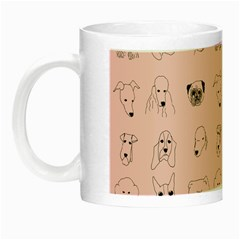 Dog Pink Night Luminous Mugs