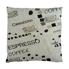 Coffe Cup Standard Cushion Case (two Sides) by AnjaniArt