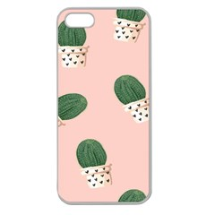 Flower Pot Apple Seamless Iphone 5 Case (clear) by AnjaniArt