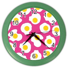 Fried Egg Color Wall Clocks by AnjaniArt