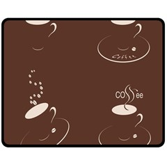 Four Coffee Cups Double Sided Fleece Blanket (medium)  by AnjaniArt