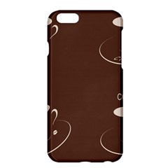 Four Coffee Cups Apple Iphone 6 Plus/6s Plus Hardshell Case by AnjaniArt
