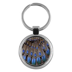 Feathers Peacock Light Key Chains (round)  by AnjaniArt