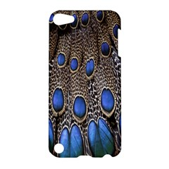 Feathers Peacock Light Apple Ipod Touch 5 Hardshell Case by AnjaniArt