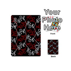 Elegant Red And White Pattern Playing Cards 54 (mini)  by Valentinaart