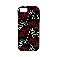 Elegant Red And White Pattern Apple Iphone 5 Classic Hardshell Case (pc+silicone) by Valentinaart