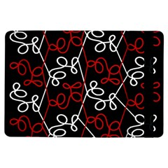 Elegant Red And White Pattern Ipad Air Flip by Valentinaart
