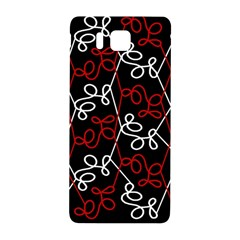 Elegant Red And White Pattern Samsung Galaxy Alpha Hardshell Back Case by Valentinaart