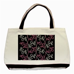 Elegance   Pink Basic Tote Bag by Valentinaart