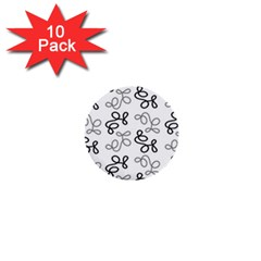 Gray Elegance  1  Mini Buttons (10 Pack)  by Valentinaart