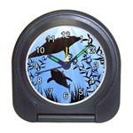 SWIMMING DOLPHINS ALARM CLOCK (BLACK)