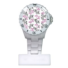 Magenta Elegance  Plastic Nurses Watch by Valentinaart