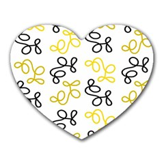 Yellow Elegance Heart Mousepads by Valentinaart