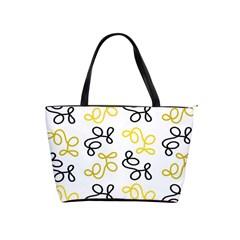 Yellow Elegance Shoulder Handbags by Valentinaart