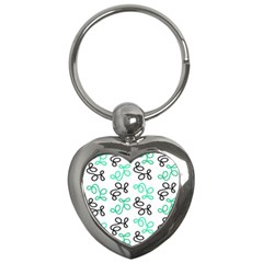 Green Elegance Key Chains (heart)  by Valentinaart