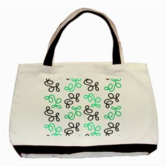 Green Elegance Basic Tote Bag (two Sides) by Valentinaart