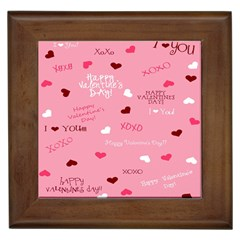 Happy Valentines Day Framed Tiles by AnjaniArt