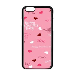 Happy Valentines Day Apple Iphone 6/6s Black Enamel Case by AnjaniArt