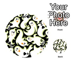 Ghosts Small Phantom Stock Playing Cards 54 (round)  by AnjaniArt