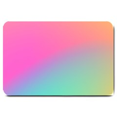 Pink Blue Large Doormat  by AnjaniArt