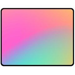 Pink Blue Double Sided Fleece Blanket (medium)  by AnjaniArt
