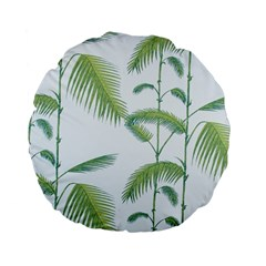 Hawai Tree Standard 15  Premium Flano Round Cushions by AnjaniArt