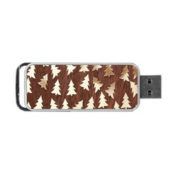 Gold Tree Background Portable USB Flash (Two Sides) by AnjaniArt