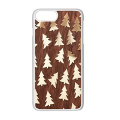 Gold Tree Background Apple iPhone 7 Plus White Seamless Case by AnjaniArt