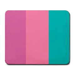 Pink Blue Three Color Large Mousepads by AnjaniArt